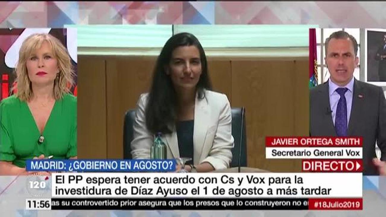 """Ortega Smith: """"Cs acusa a Vox de bloqueo y  ellos saben que somos el partido de la mano tendida"""""""