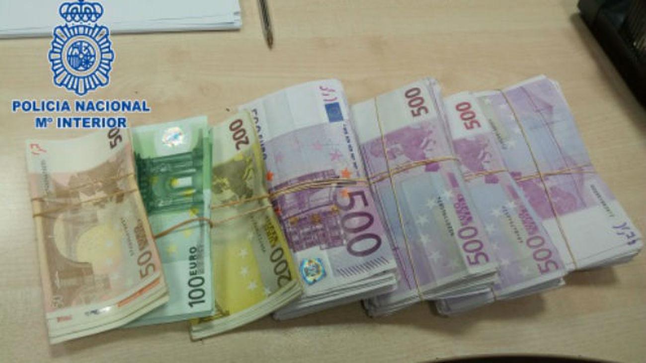 Dinero intervenido por la Policía Nacional. Archivo