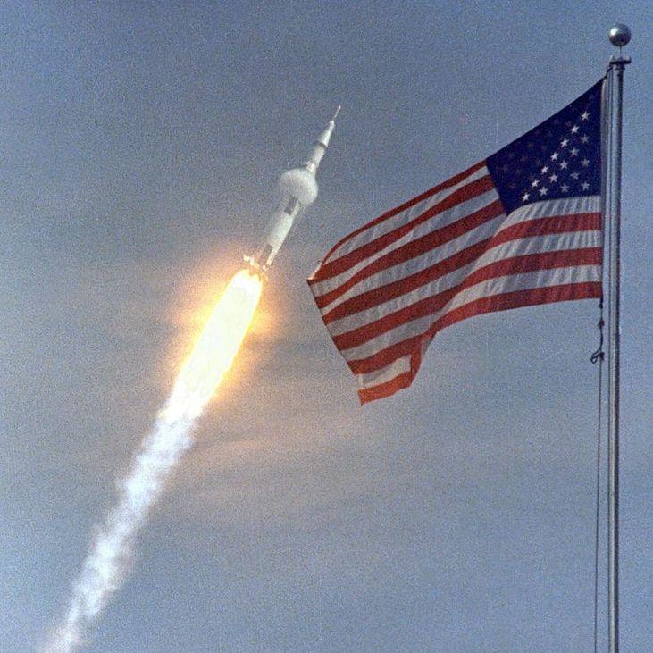 El Apolo 11 comenzaba un viaje que cambiaría por completo la historia de la humanidad. Ellos aún no lo sabían.