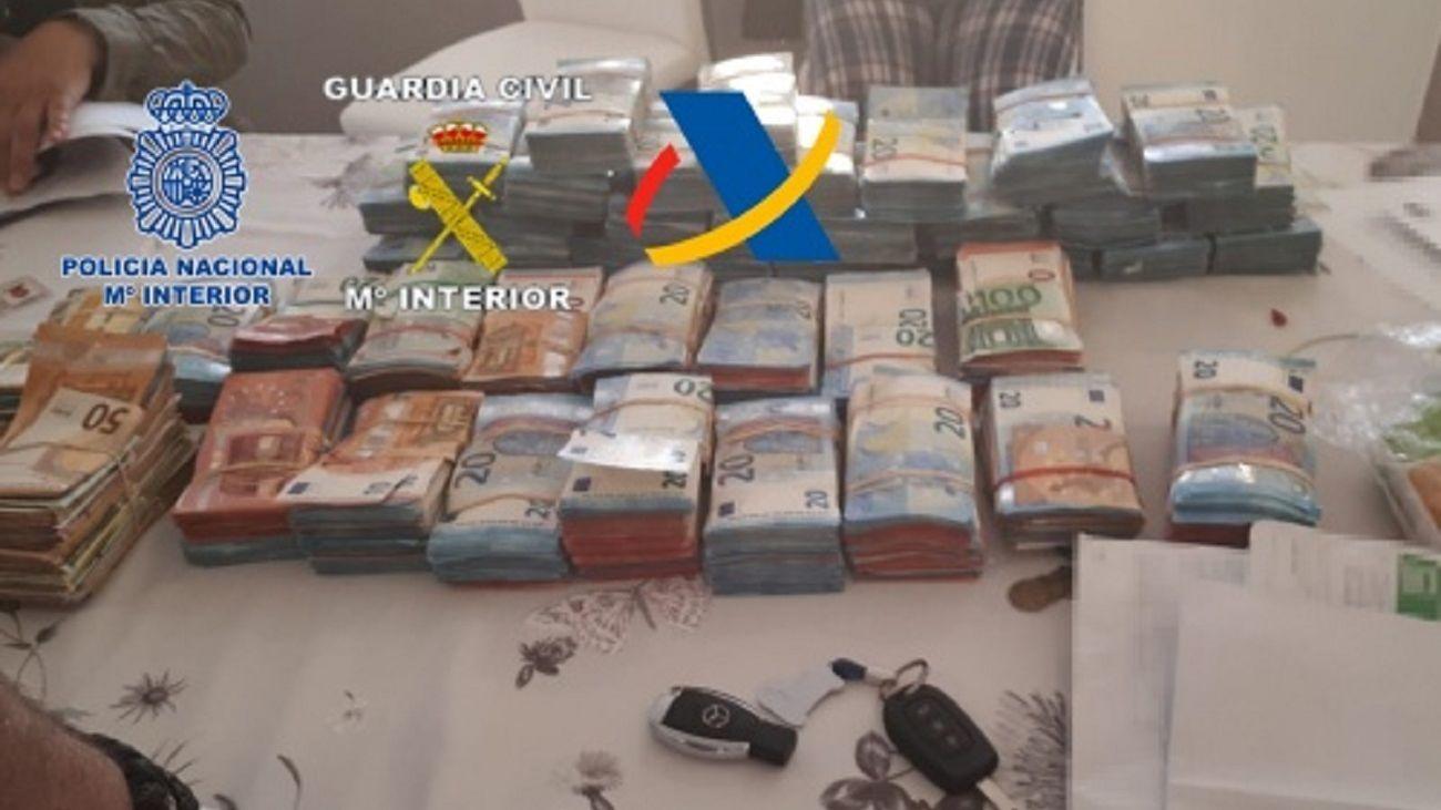 Dinero incautado por las autoridades
