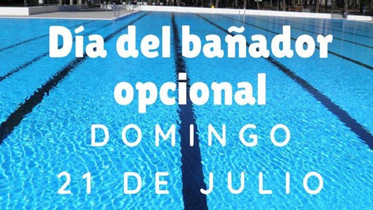 'Día sin Bañador' en la piscina municipal de Aluche