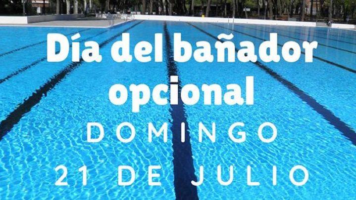 Jornada para el nudismo en el 'Día sin Bañador' de la piscina municipal de Aluche