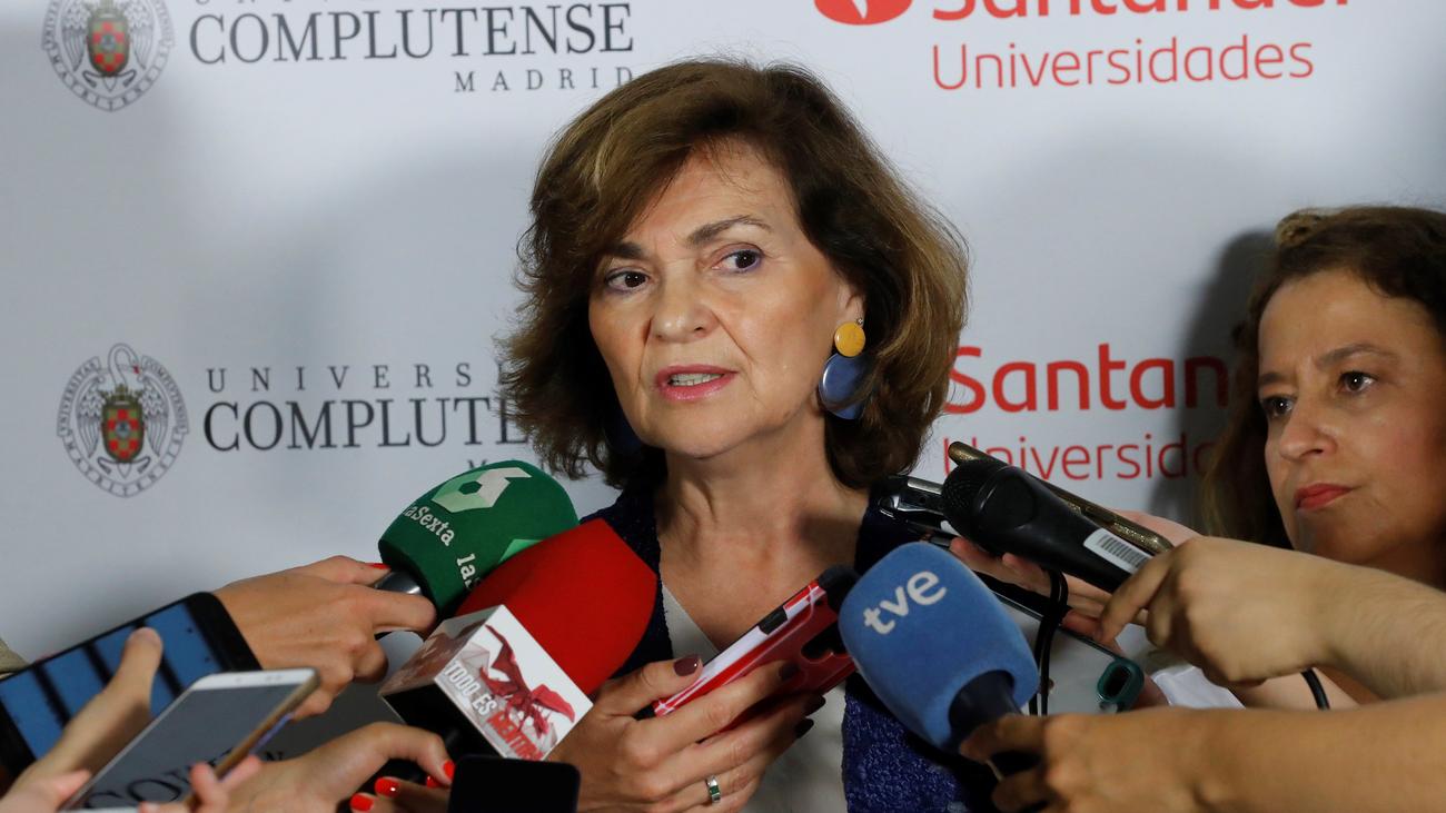 Calvo y Echenique negocian el pacto para la investidura de Sánchez