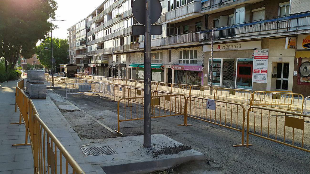 Asfaltado de calles en Coslada