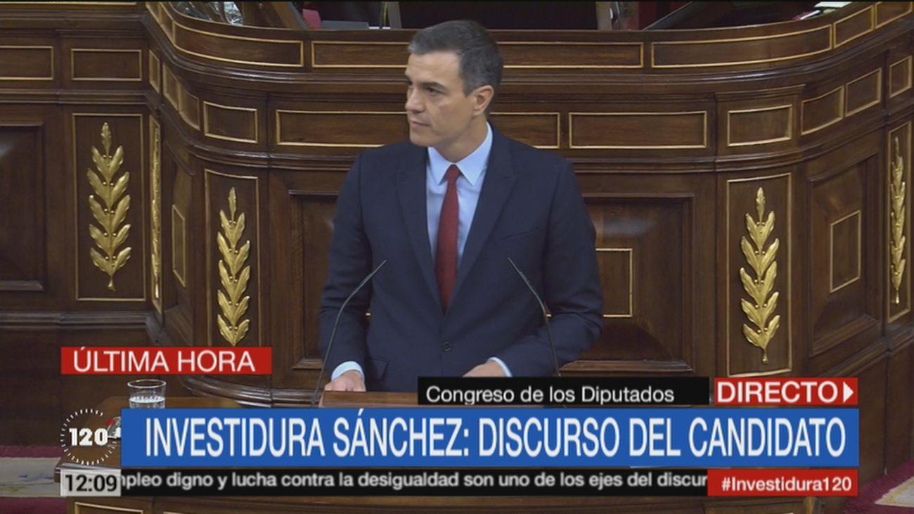 Discurso del candidato a la presidencia del Gobierno, Pedro Sánchez
