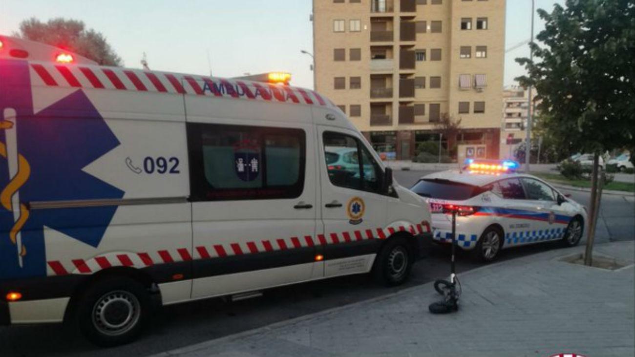 Ambulancia y Policía Local de Valdemoro