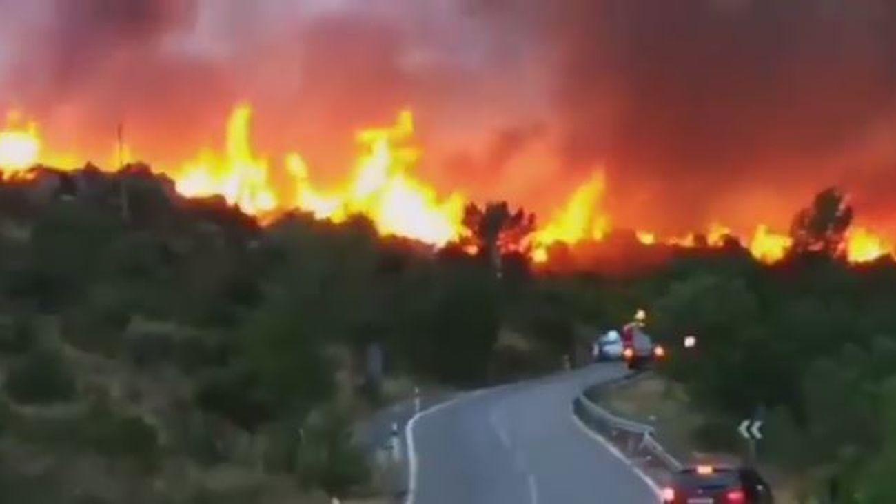 Incendio forestal en El Berrueco