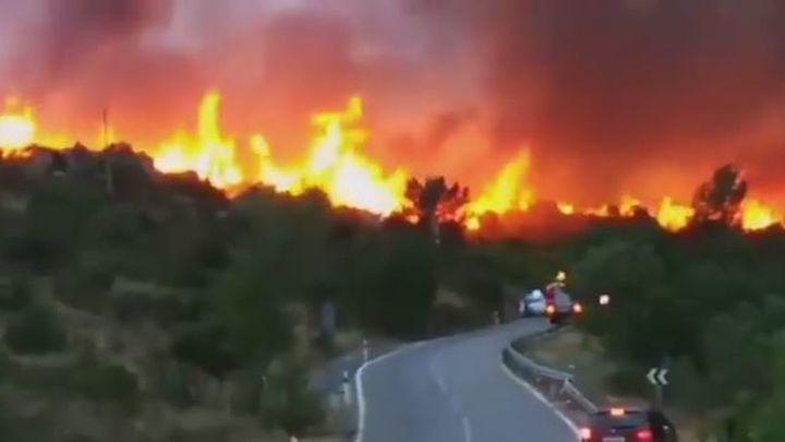 Declarado un incendio forestal en El Berrueco