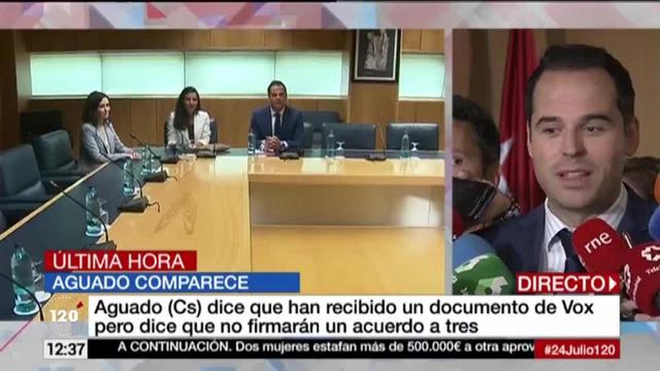 Aguado pone a Vox el ejemplo de Murcia para desbloquear Madrid
