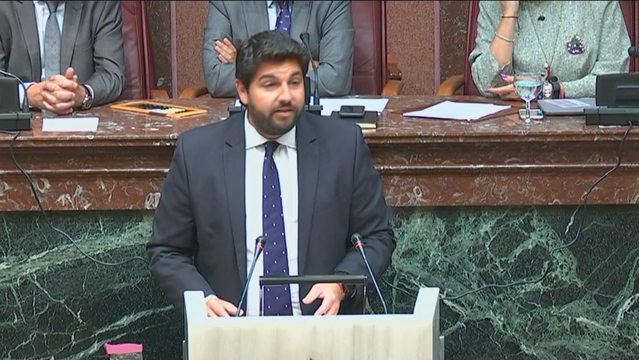 López Miras defiende los puntos de su acuerdo con Vox en Murcia