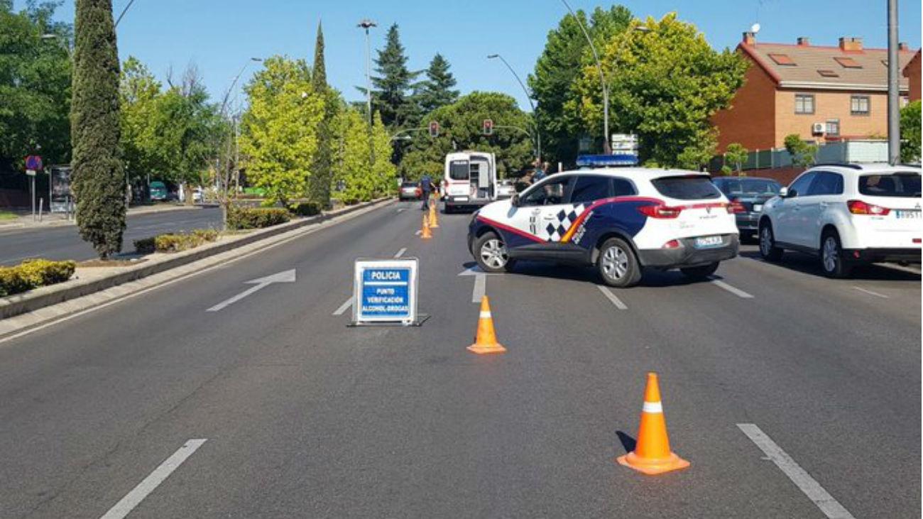 Control de la Policía Local de Getafe