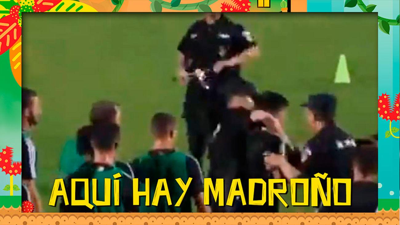 Cristiano Ronaldo se hace viral por esta reacción inesperada contra un policía
