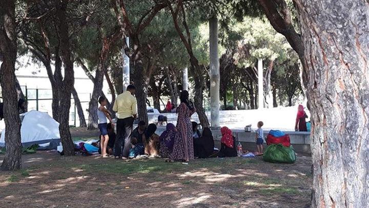 Los ciudadanos sirios que acampaban cerca de la mezquita de la M-30 han sido realojados