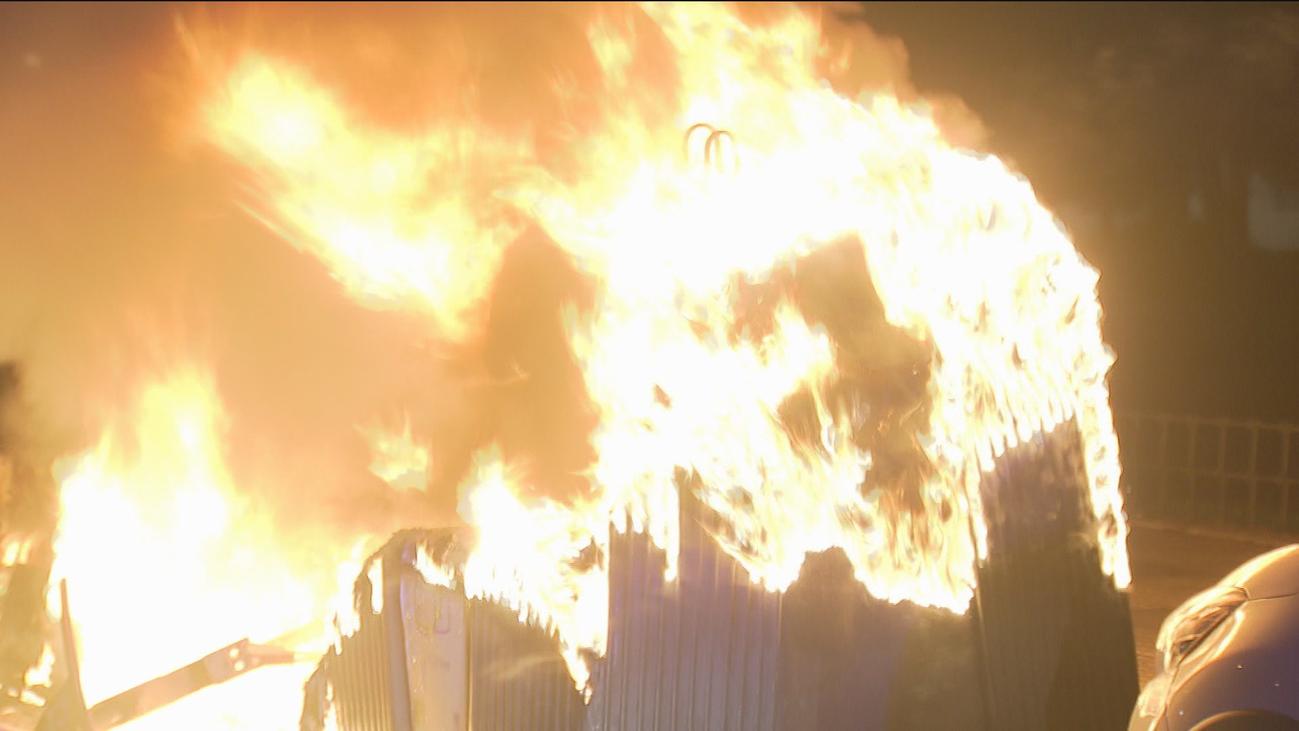 Nueva oleada de quema de contenedores en Ciudad Lineal