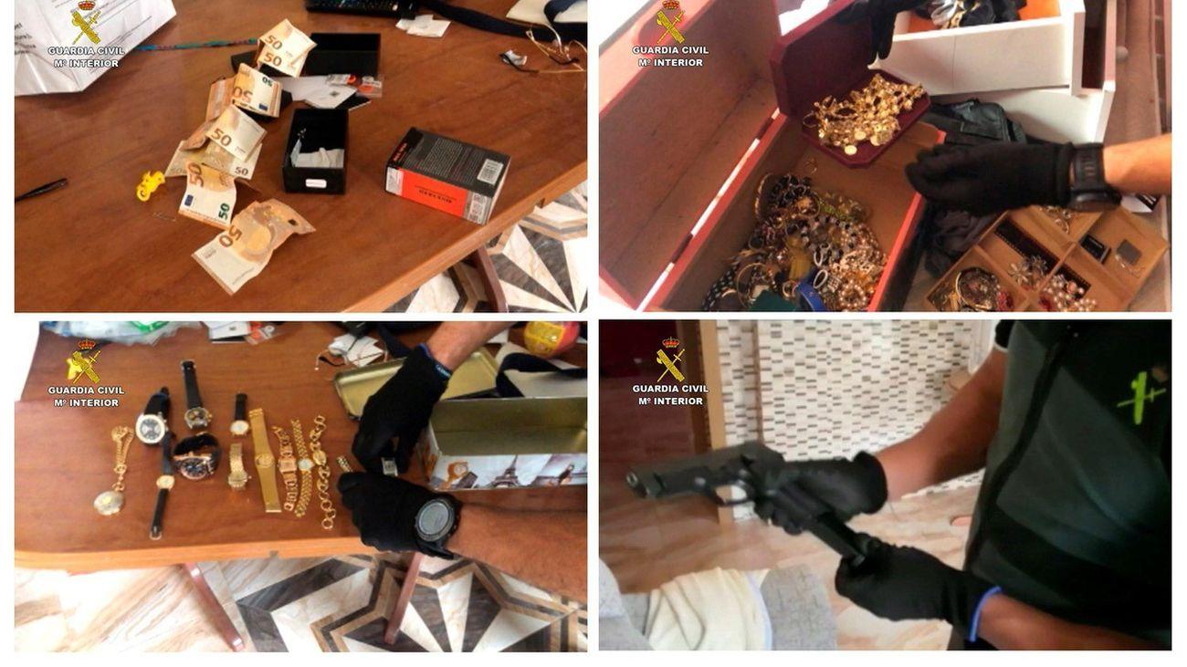La organización cometió  238 robos en España