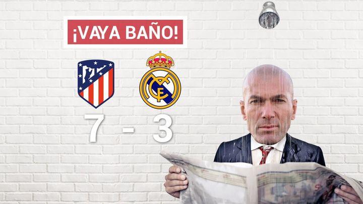 3-7. El Atlético golea y brilla frente a un esperpéntico Real Madrid