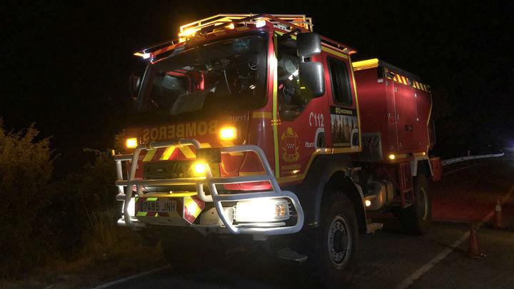 Una patrulla vigila el entorno del incendio de El Berrueco, ya extinguido