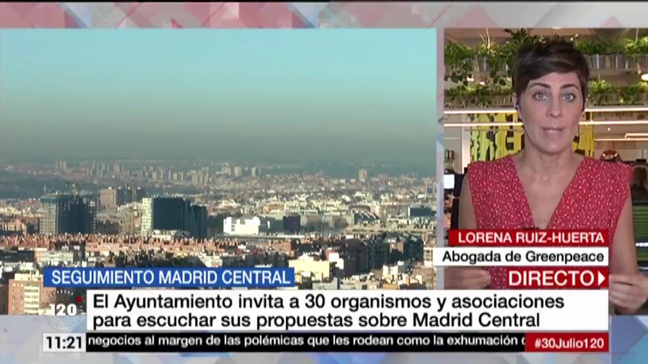 """Greenpeace pide al Ayuntamiento """"responsabilidad"""" y """"claridad"""" sobre Madrid Central"""