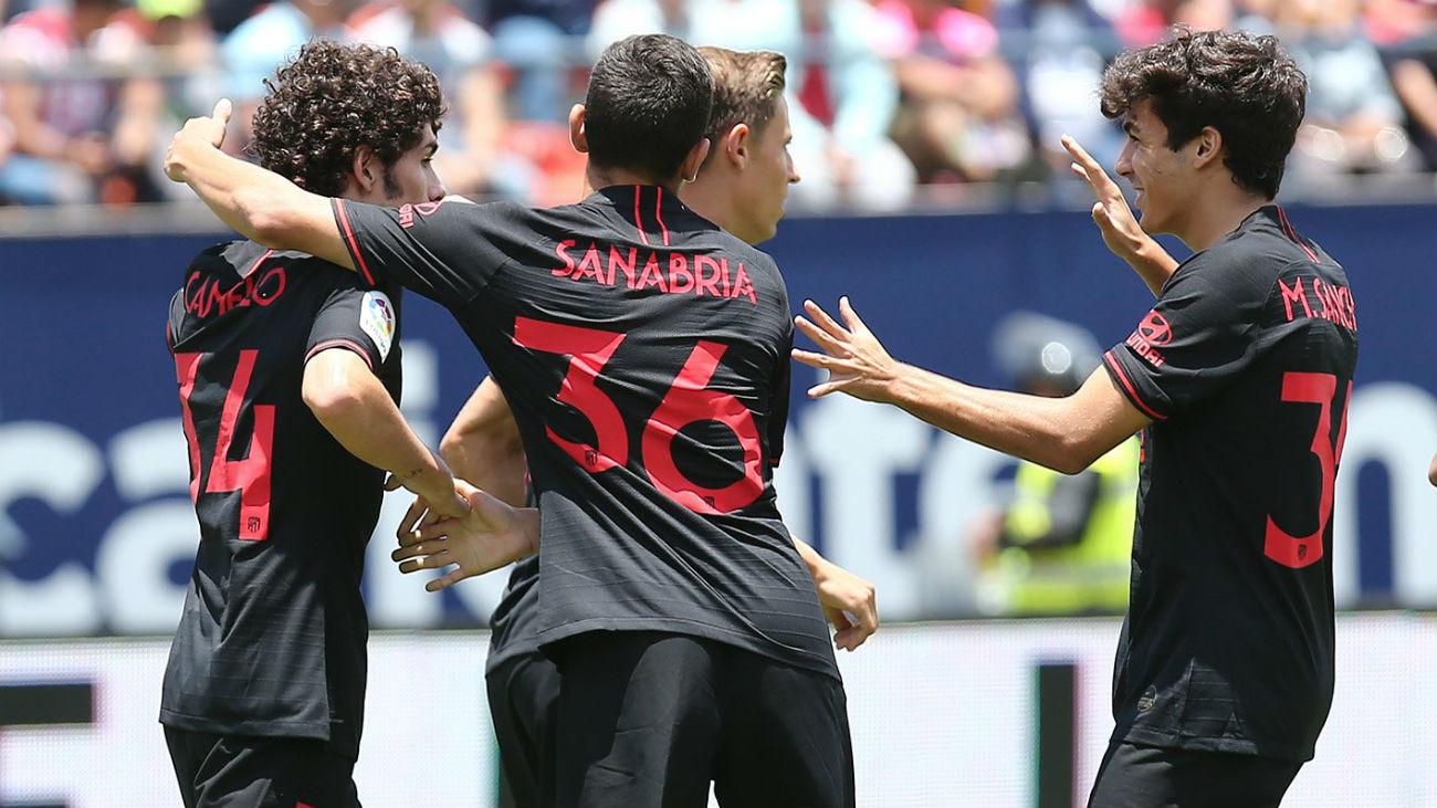 Gol de Sergio Camello, del Atlético, al San Luis (1-1)