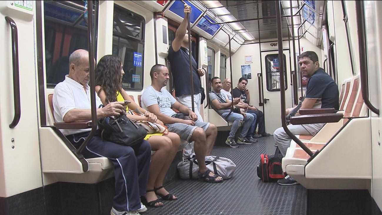 Metro de Madrid reduce el número de trenes en agosto