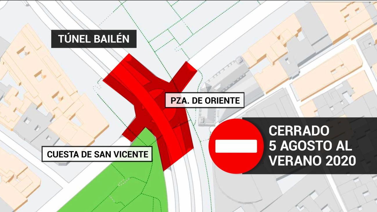 Cortado el tráfico desde este lunes en el túnel de Bailén