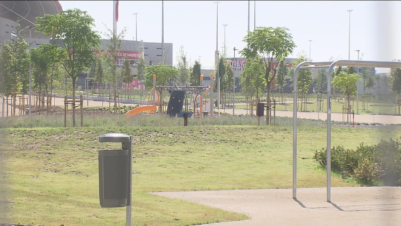 Nuevos jardines y zonas deportivas en los alrededores del Wanda Metropolitano