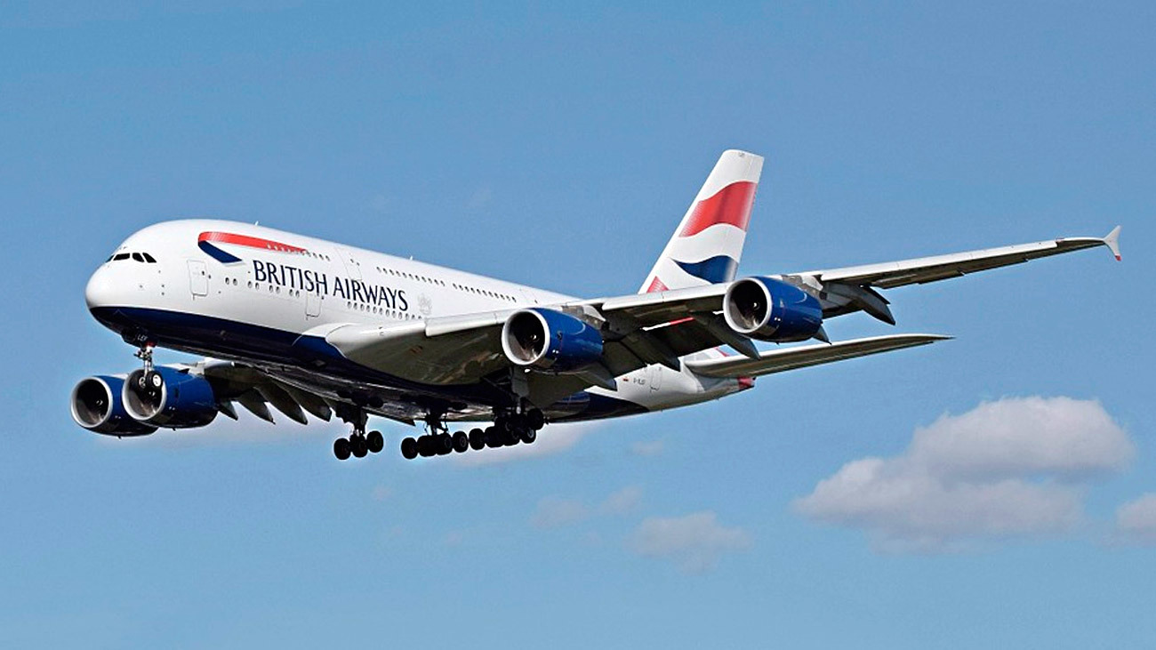 Avión de la compañía aérea British Airways