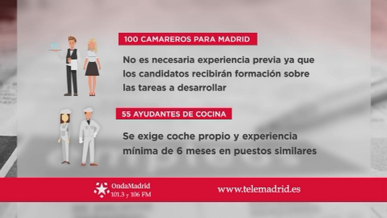Se buscan camareros y ayudantes de cocina para trabajar en Madrid