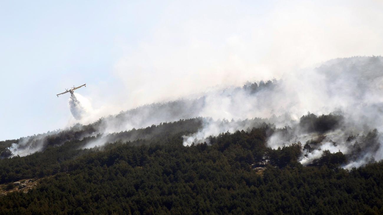 Sigue la lucha contra las llamas en el incendio de La Granja