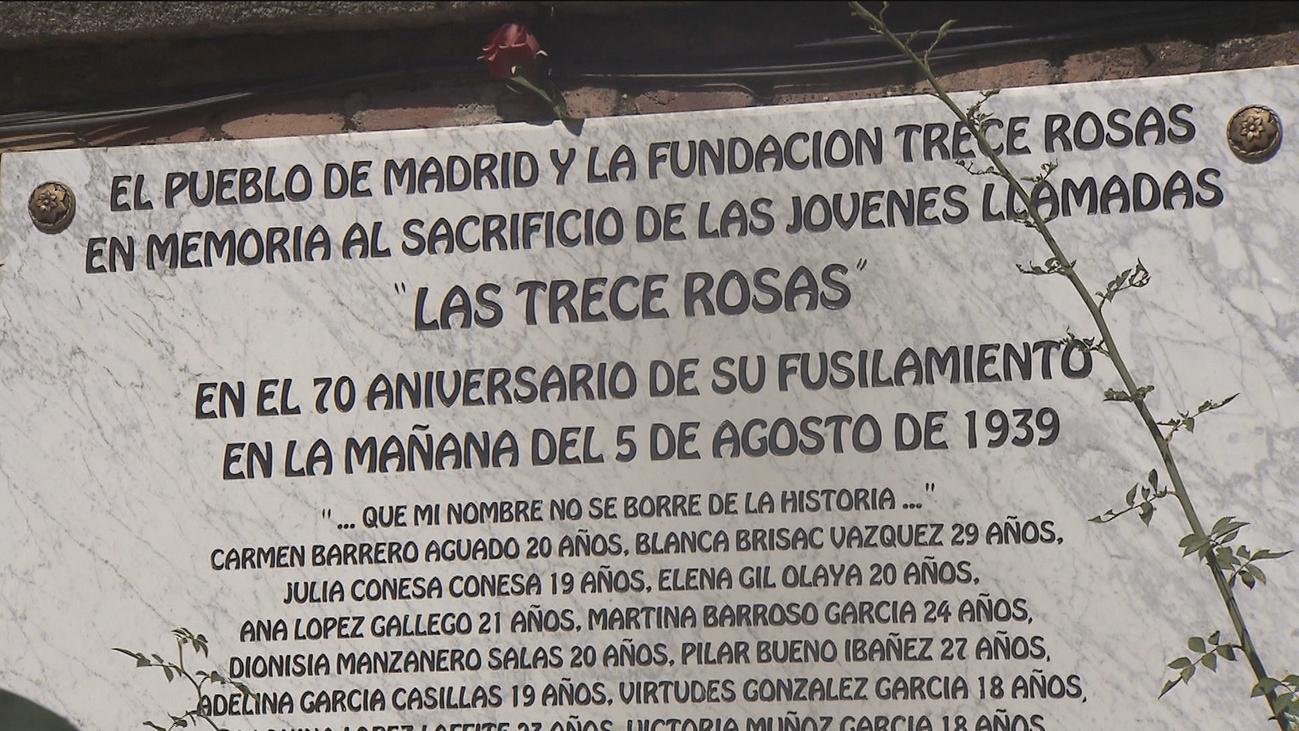 80 años del fusilamiento de las '13 rosas'