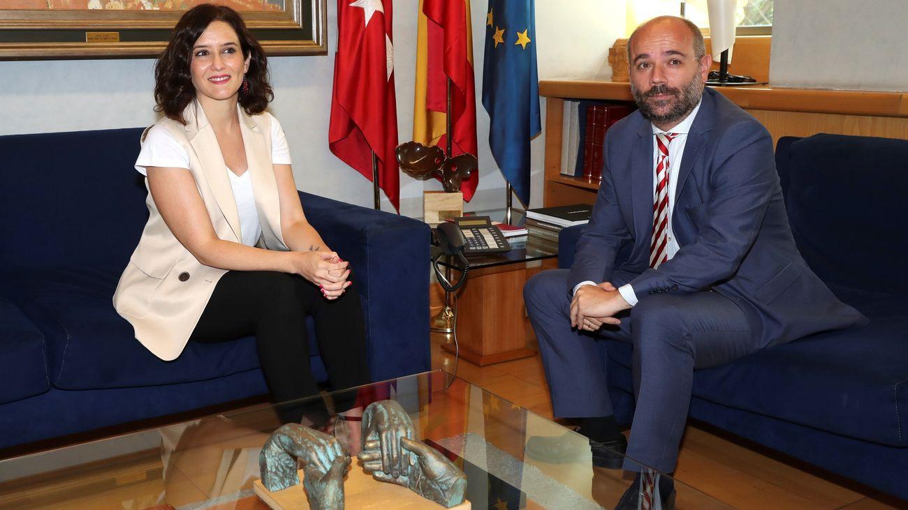 Isabel Díaz Ayuso y Juan Trinidad