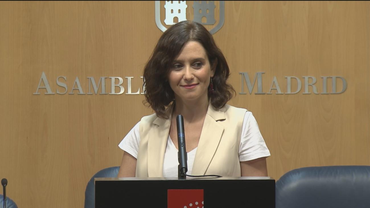 """Isabel Díaz Ayuso: """"Mi compromiso con que no se repita ningún caso de corrupción es firme"""""""