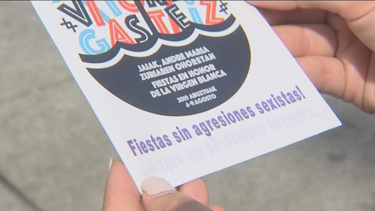 Polémica en las fiestas de Vitoria por un folleto con recomendaciones para evitar agresiones sexuales
