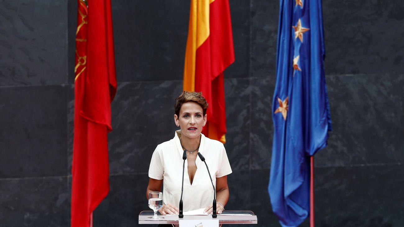 La socialista Chivite toma posesión como novena presidenta de Navarra