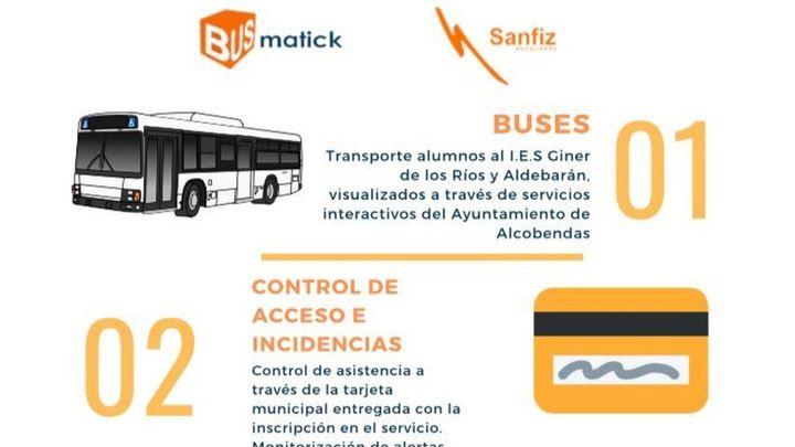Las familias de Alcobendas podrán seguir en tiempo real por la web municipal la ruta de los buses escolares