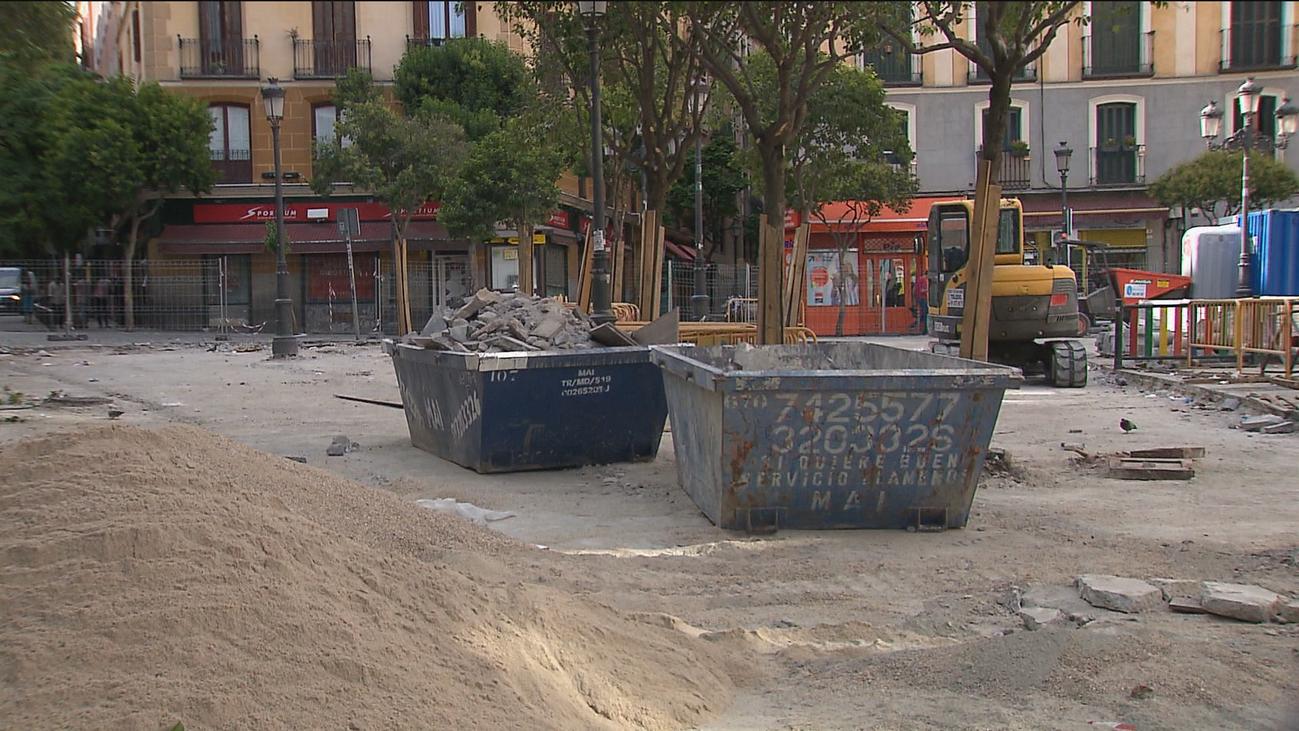 Comienzan las obras de reforma de las plazas de Dos de Mayo y de Lavapiés