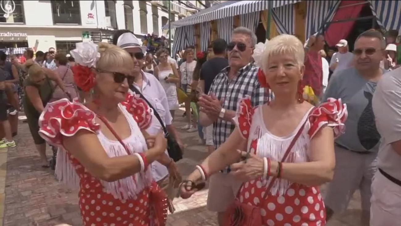 A la Feria de Málaga... con la camisa puesta
