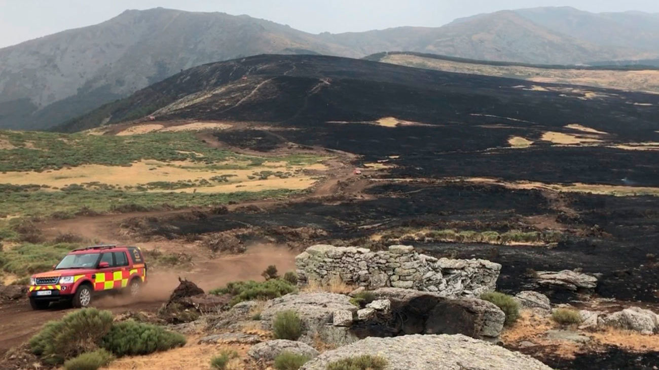 Controlados los dos incendios de  Guadarrama tras asolar más de 600 hectáreas