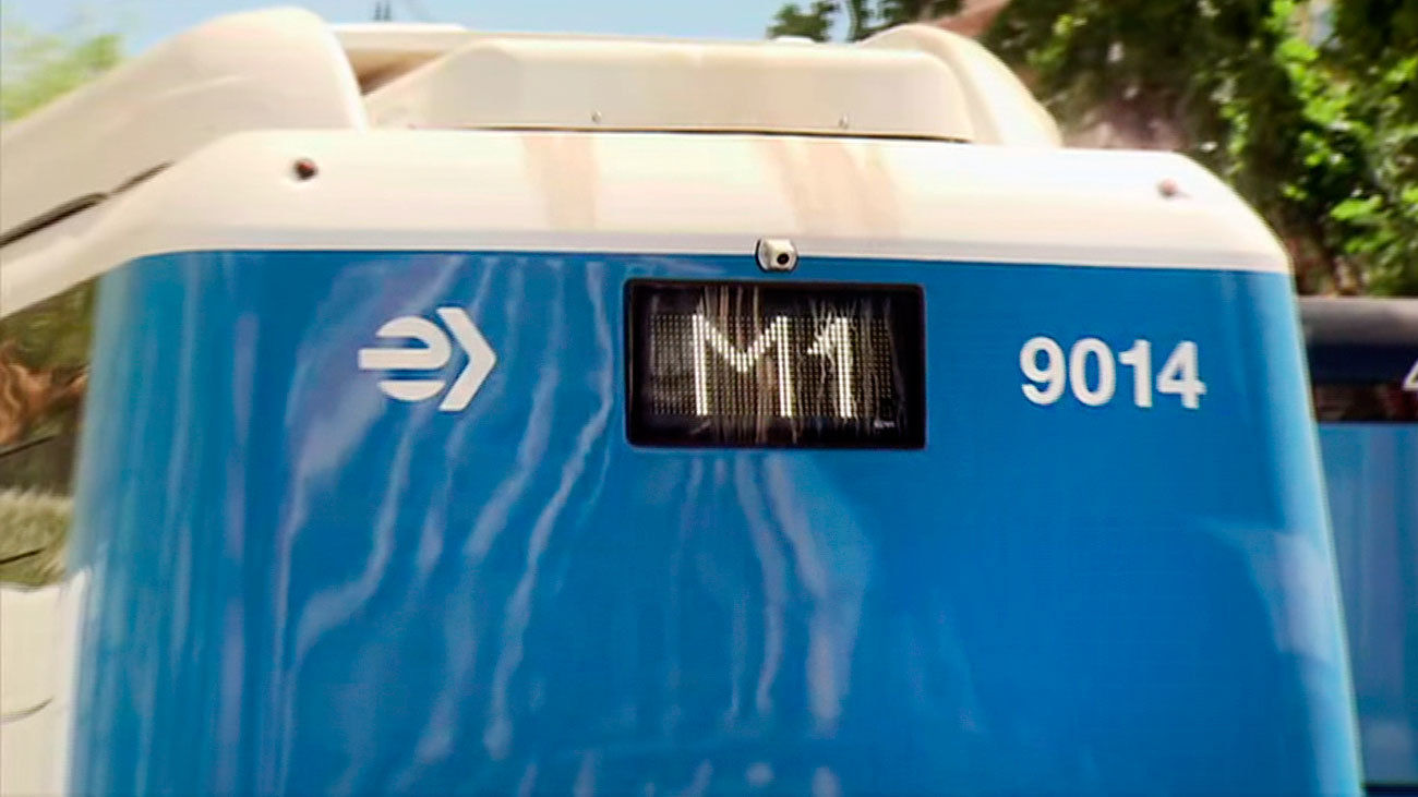 Autobús de la línea M1 de la EMT de Madrid