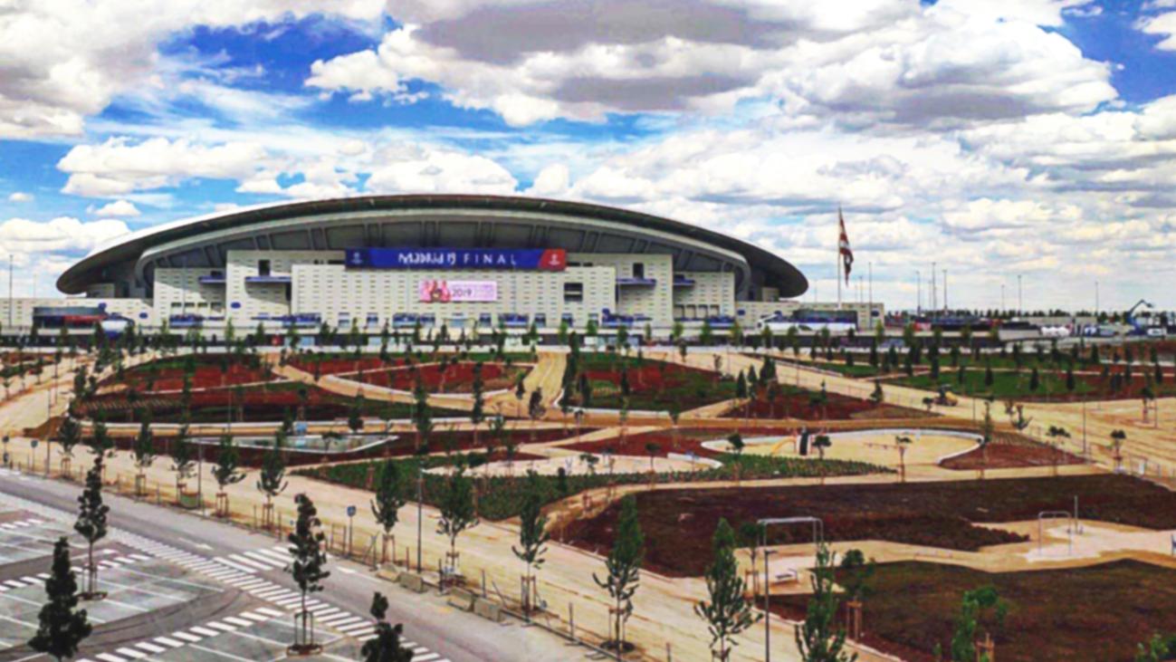 Abren al público los nuevos jardines del Wanda Metropolitano