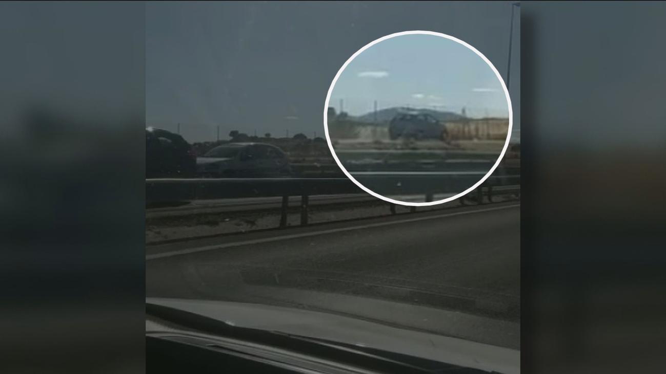Un conductor invade el carril-bici de Colmenar para huir de la Guardia Civil