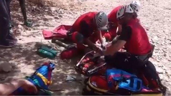 Rescatado en helicóptero un escalador  en Patones
