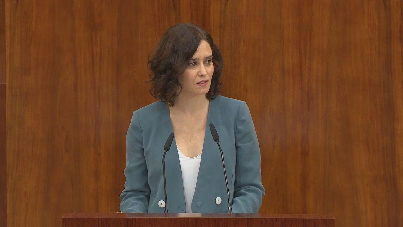Isabel Díaz Ayuso cito 10 grandes retos para su legislatura