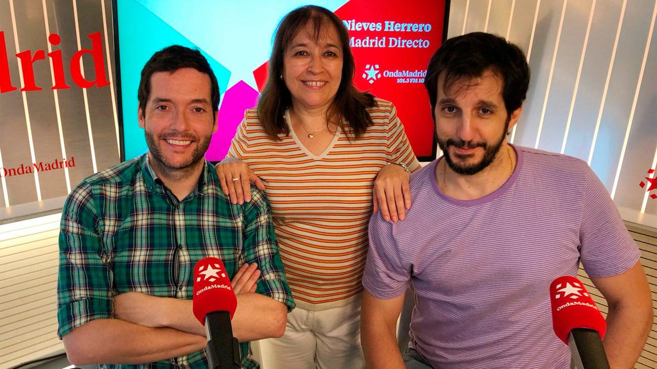 Los actores Guillermo Ortega y Felipe Andrés en Onda Madrid