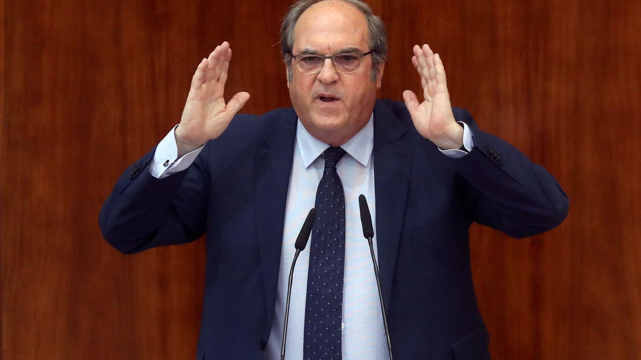 Ángel Gabilondo, en otro momento de su intervención en el pleno de investidura