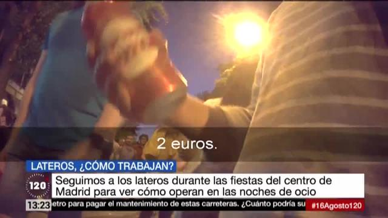 Decenas de lateros en las fiestas de Madrid