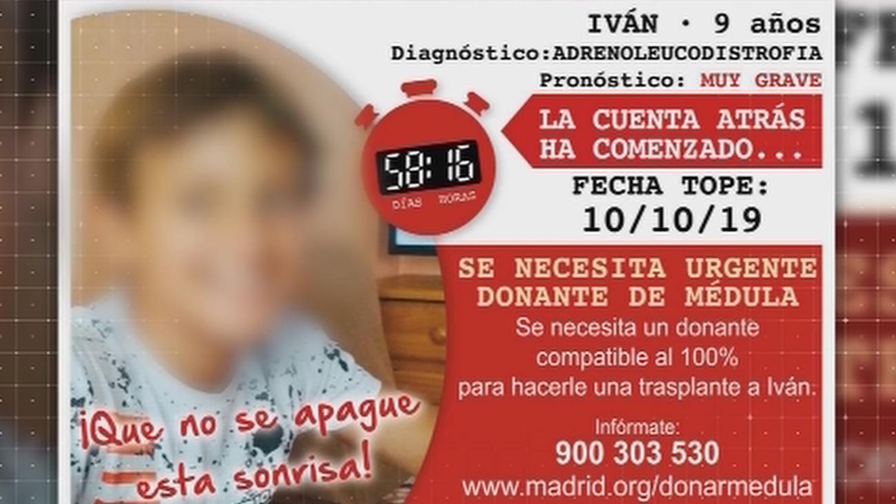 Iván, de 9 años, necesita un donante de médula urgentemente