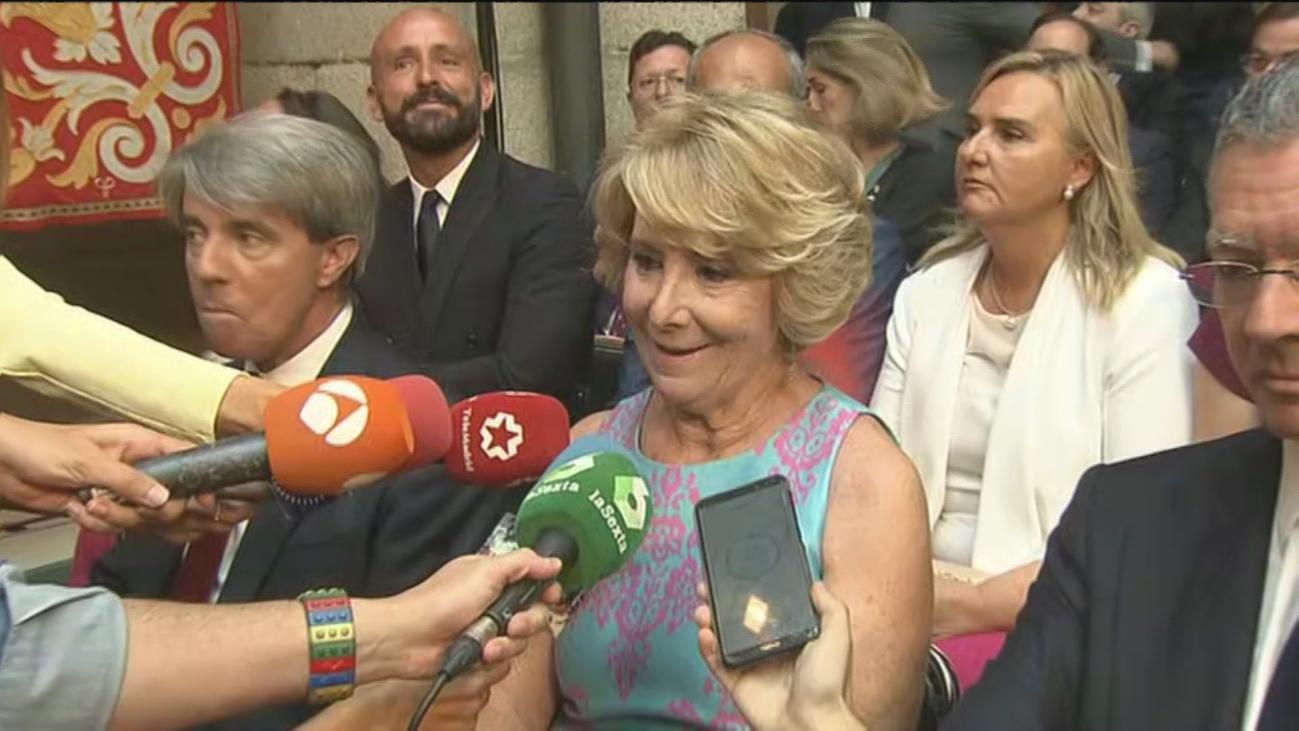"""Esperanza Aguirre: """"Como no he hecho nada pueden investigar lo que quieran"""""""