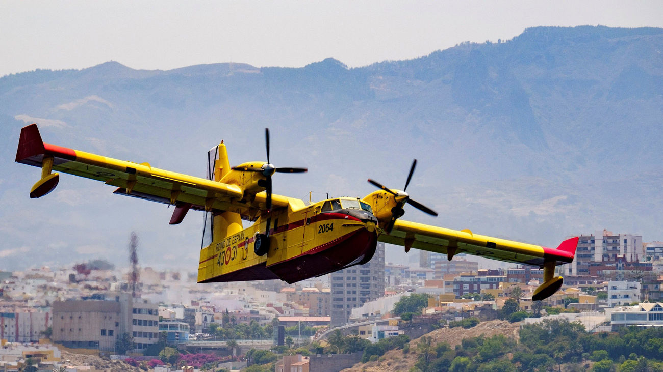 El incendio de Gran Canaria pierde potencial