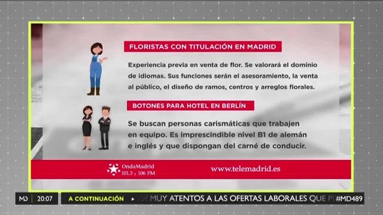 Se necesitan floristas en Madrid y botones de hotel en Berlín